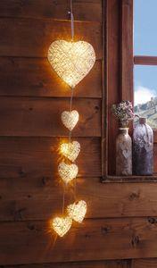 LED-Hänger 'Herz' Fenster Deko Liebe aufhängen Terrasse Balkon