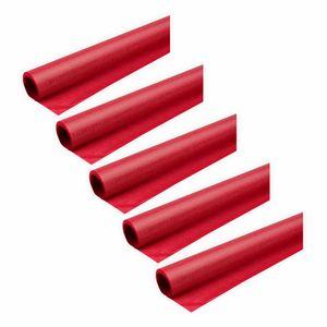Creleo - Transparentpapier 40g/m² 5 Rollen rot 70x100cm Drachenpapier