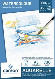 CANSON Aquarellpapier Block DIN A5 300 g/qm weiß