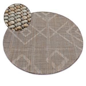 Teppich NATURE Kreis G2929 beige SIZAL BOHO Kreis 160 cm beige