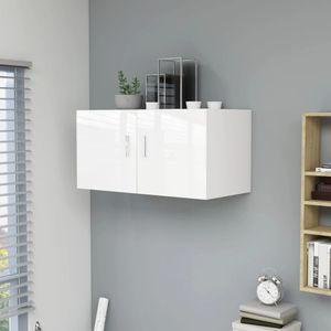 Chunhe Wandschrank Hochglanz-Weiß 80 x 39 x 40 cm Spanplatte