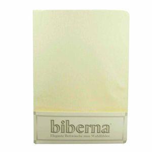 Biberna 02744 Feinbiber-Spannbettlaken Deluxe 150 x 200 cm, Farbe:Natur, Grösse:150 cm x 200 cm