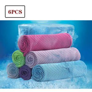 6x Kühlendes Sporthandtuch Fitness Abkühlung Handtuch Kühlhandtuch Cooling Towel