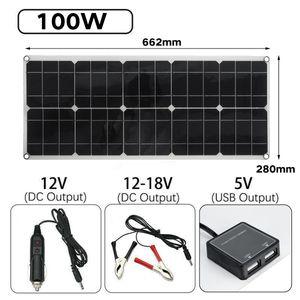 100W 18V Solarpanel Solarmodul Solarzelle Solar Polykristallin Wasserdicht IP65