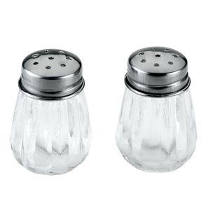 2er Set Mini Salz- und Pfefferstreuer Salzstreuer Gewürzstreuer Streuer Glas