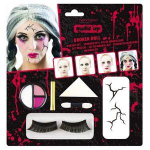 make-up Halloween-Damen 7-teilig