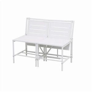 Siena Garden Gartenbank / 2-Sitzer Bank Magic Bench Stahl weiß