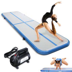 4M Air Track mit elektrischer Pumpe Gymnastikmatte Tumbling Matte Aufblasbar Turnmatte Airtrack Training Turnmatte Air Yoga Track Gymnastikmatte Tumbling Matte Aufblasbar