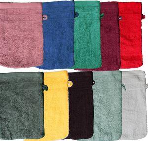 10er Pg. Waschhandschuh uni Walk Frottier, mit Borde, ca. 16x21cm, Waschlappen, 100% Baumwolle