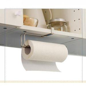 Papierhandtuchhalter hängen ohne Bohren Papierhandtuchhalter für Küchenschränke, Badezimmer und Hauswirtschaftsraum, Edelstahl