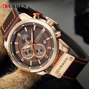 Curren Herren Luxus Armbanduhr Sport Automatikuhr Mode Watch Uhren Geschenke