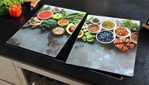 Kesper XL Herdabdeckplatte - Motiv: Healthy Kitchen