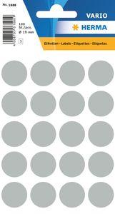 HERMA Markierungspunkte Durchmesser: 19 mm grau 100 Stück