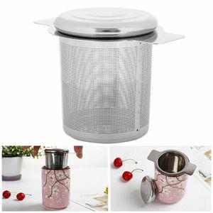 Teesieb Teefilter mit Deckel Edelstahl rostfrei für Tassen Kannen Infuser