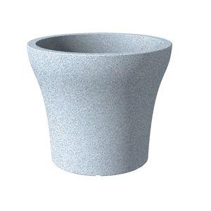 Scheurich 258/40 Übertopf No1 Stone 40 Weiß Granit - 39 cm x 39 cm x 33,2 cm; 55387
