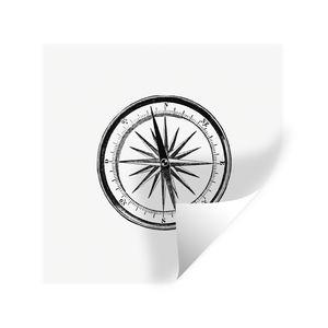 Wandaufkleber - Retro - Kompass - Vintage - 30x30 cm - Repositionierbar