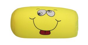 Nackenrolle lustige Gesichter gelb