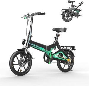 Elektrofahrrad Klapprad Ebike Elektrofahrräder Klappräder Faltrad 250W elektrisches Fahrrad E-Bike mit 7,5 Ah Batterie, 16 Zoll, für Jugendliche und Erwachsene