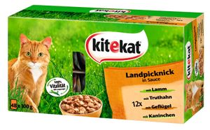 Kitekat Landpicknick in Sauce 48x 100g