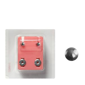 1 Paar Erstohrstecker Chirurgenstahl Sterile Ohrstecker Knopfform 3mm rund Ohrringe Ohrhänger Ohrschmuck
