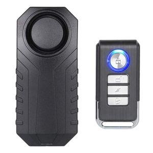 Fahrradalarm mit Einstellbarer Lautstärke, kabelloser Diebstahlalarm mit lauter Sirene, wasserdichtes Sicherheitsschloss mit Fernbedienung für Fahrrad/Roller/Fahrzeuge/Tür/Fenster