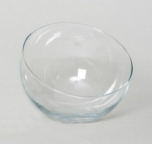 INNA-Glas Schräge Kugelvase Nelly aus Glas, transparent, 22cm, Ø 19,5cm - Kugelvase Glas / Windlichthalter
