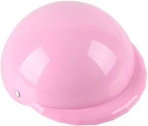 Hunde Helm Hundekappe für Sonnen Regen Schutz Hut Haustier Kostüm Mütze (Rosa), S