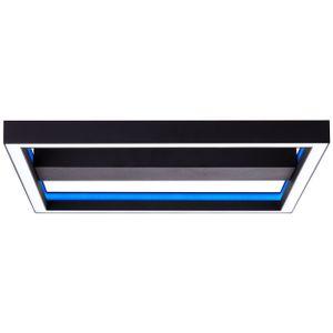 BRILLIANT Icarus LED Wand- und Deckenleuchte 50x50cm RGB mit Fernbedienung schwarz G99313/76