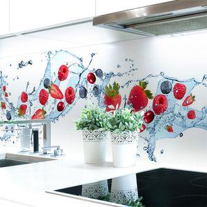 Küchenrückwand Berry Splash Premium Hart-PVC 0,4 mm selbstklebend - Direkt auf die Fliesen, Größe:60 x 51 cm
