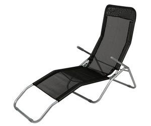 Bäderliege LD44, Saunaliege Sonnenliege Relaxliege  schwarz