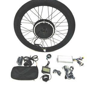 """Theebikemotor 48V1000W Elektro-Fahrrad Umbausatz + LCD + Reifen + Scheibenbremse 29"""" Vorderrad"""