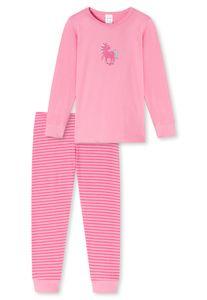SCHIESSER Mädchen Schlafanzug - langarm, Kinder, Baumwolle, Pferde-Motiv, 92-140 Rosa 128