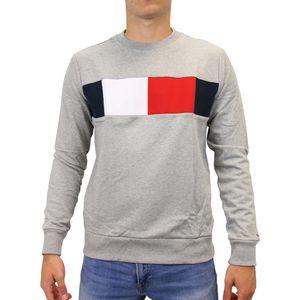 Tommy Hilfiger Baumwoll-Sweatshirt Herren Grau (MW0MW09713 501) Größe: S