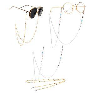 2 Stück Metall Perlen Brillen Kette Brille Sonnenbrille Halter Gläser Schnüre Gurt Brillen Halter