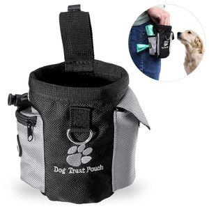 Futterbeutel für Hunde,Trainingsbeutel Hund, Oxford Hände Frei Hund Treat Tasche mit Eingebautem Poop Tasche Spender