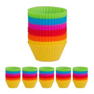 relaxdays 144 x Muffinförmchen Silikon Muffinformen Silikonformen Backformen für Cupcakes