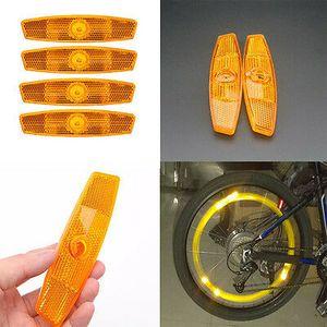 4 Orange Speichen Fahrrad Rad Reflektoren Set Sicherheit für Road Mountain G4E5