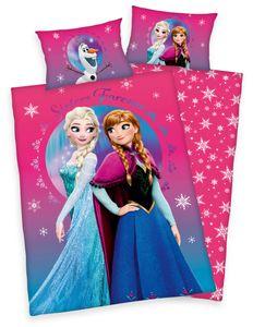 Disney´s Frozen - Die Eiskönigin Bettwäsche 40x60 + 100x135cm mit Reißverschluss