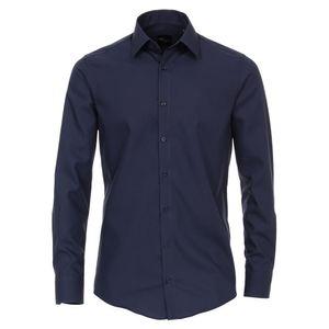 Größe 38 Venti Hemd Graublau Uni Langarm Slim Fit Tailliert Kentkragen 100% Baumwolle Popeline Bügelfrei