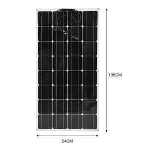 100W monokristallines flexibles Solarpanel, Ultradünnes Solarladegerät Tragbares monokristallines