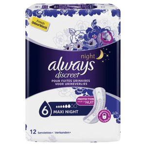 Always Discreet Night Gr. 6 Maxi Night Bei Blasenschwäche 5 x 12 Einlagen