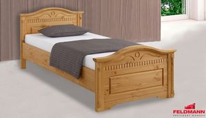 Einzelbett Bett Bettgestell Landhaus 90x200cm Kiefer Massivholz Natur