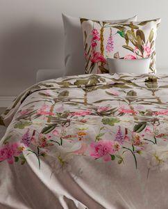 Zo! Home Baumwolle Bettwäsche 155x220 cm Flamingo Dschungel Palmen Kolibri Daston