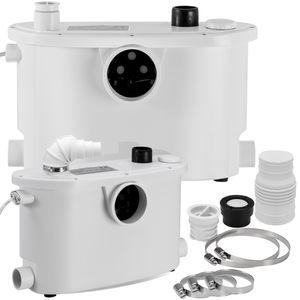 KESSER® Hebeanlage Kleinhebeanlage ✓ Fäkalienpumpe ✓ mit integriertem Rückschlagventil ✓ 400 Watt ✓ WC Toiletten ✓ Dusche ✓ Badewannen ✓ Waschbecken ✓ Spülmaschinen Abwasser Haushaltspumpe Sanitär, Größe:400W