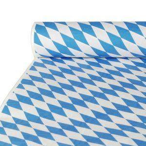 20 Papiertischtuch mit Damastprägung 10 m x 1 m  Bayrisch Blau