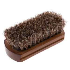 Polierbürste für Schuhe - Rosshaarbürste Holz Schuhbürste