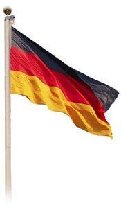 Fahnenmast  620cm mit Deutschlandflagge