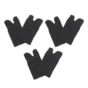 3 Paar 2 Zehensocken Schwarz Socken 28,5 x 8,5 cm