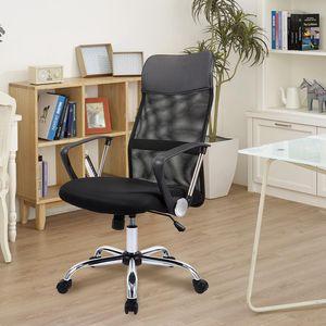 CO-Z Drehstuhl Bürostuhl Schreibtischstuhl Stuhl Chefsessel Computerstuhl ErgonomischHöhenverstellbare Schreibtischstuhl 360° Drehstuhl High Back Chefsessel mit Rückenstütze für Büro und Zuhause