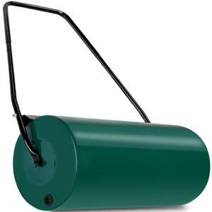 Gardebruk Rasenwalze 60cm 48l Füllvolumen Schmutzabweiser Metall Handwalze Rasenroller Gartenwalze Ackerwalze